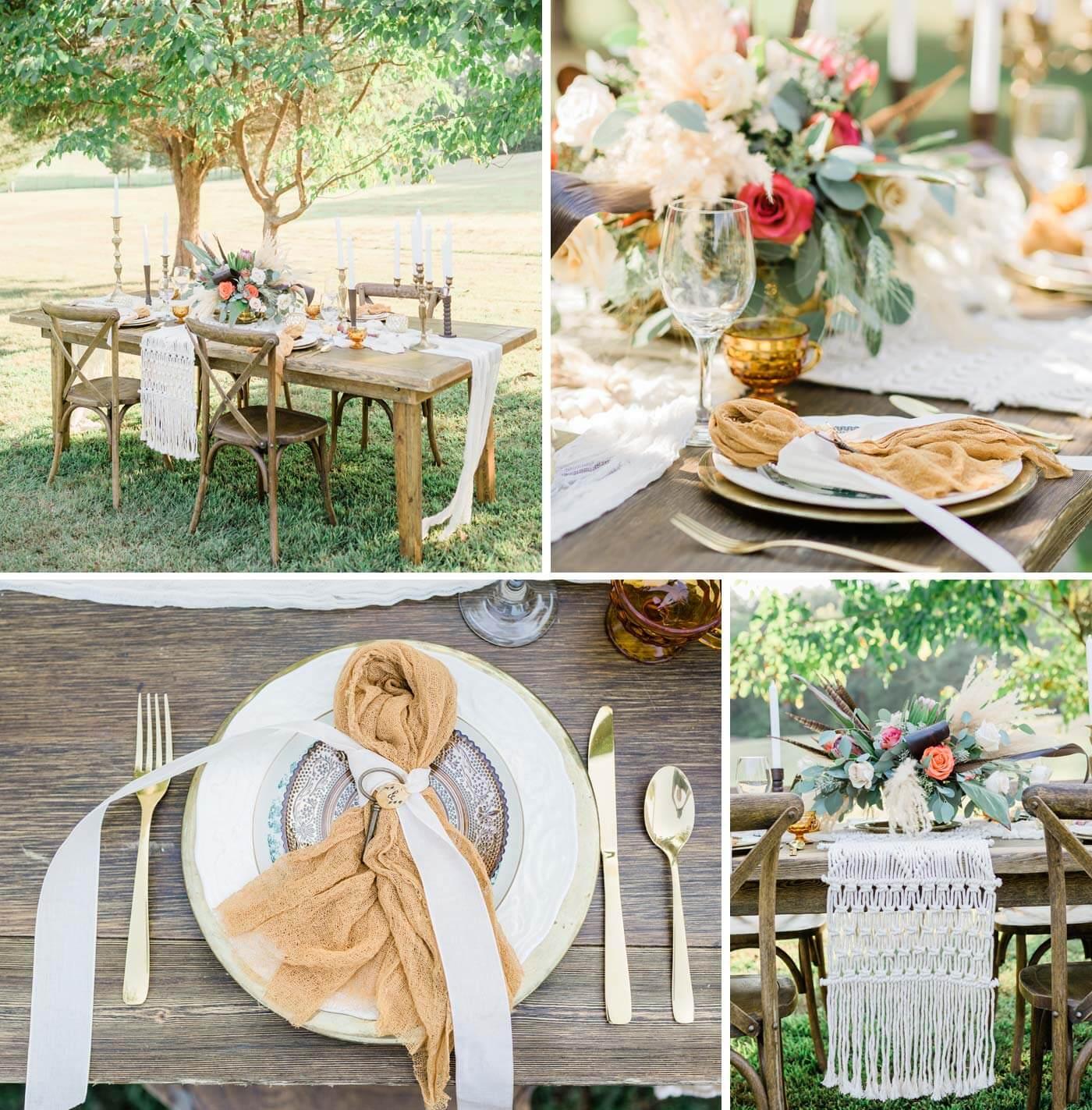 Tischdeko Hochzeit Boho