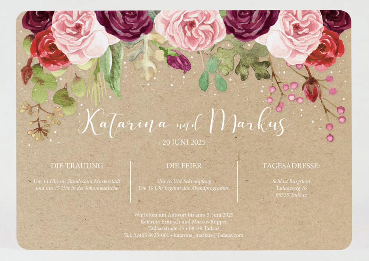 Boho Hochzeit Einladung