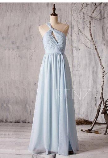 Brautjungfernkleid Grau