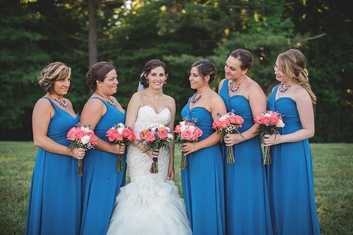 Brautjungfernkleider in Blau