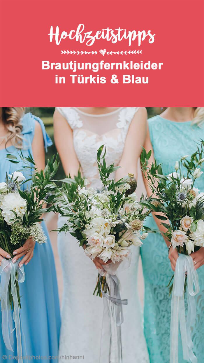 Brautjungfernkleid Blau
