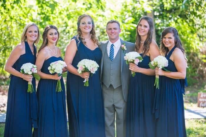 Brautjungfer kleid dunkelblau
