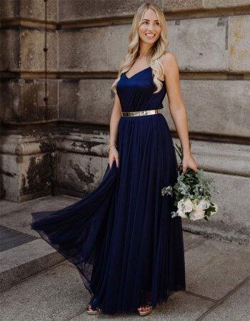 Brautjungfernkleider Dunkelblau