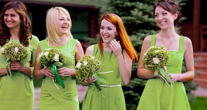 Brautjungfernkleider Hellgrün