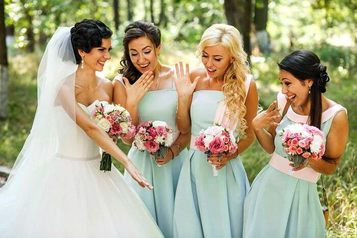 Brautjungfernkleider Mint