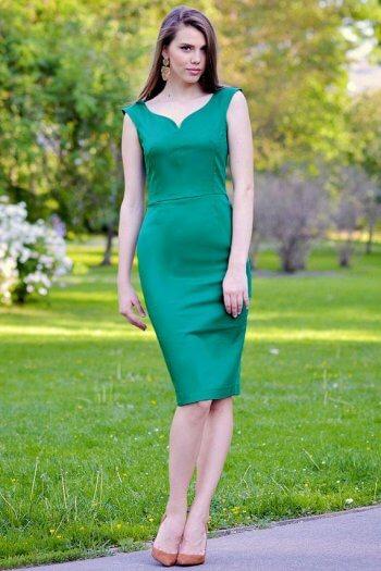 Grün Brautjungfernkleid