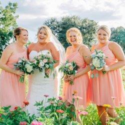Brautjungfernkleider Apricot
