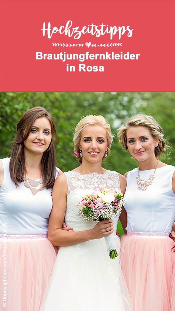 Kleid Brautjungfer rosa