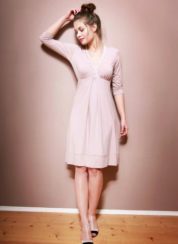 Pastell Rosa Brautjungfernkleid