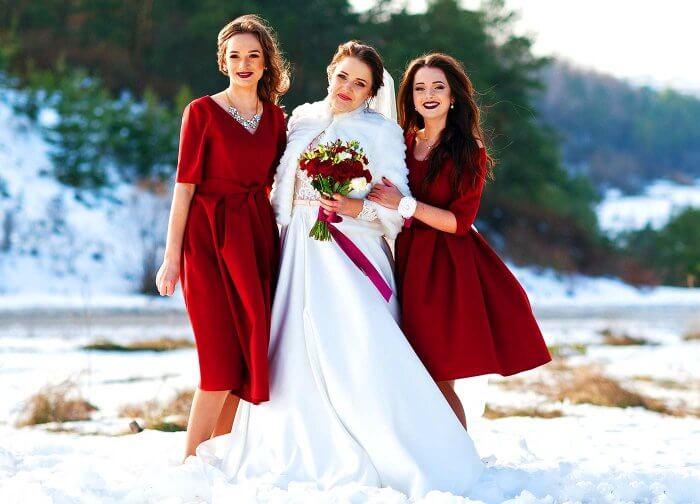 Brautjungfernkleider Dunkelrot