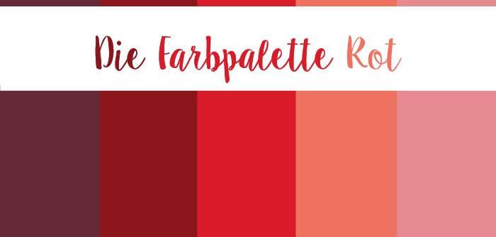 Farbpalette Rot