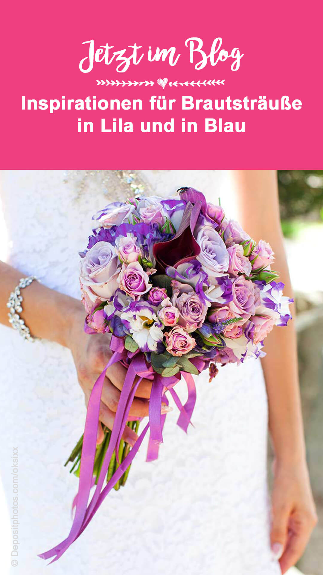 Brautstrauß Blau Lila