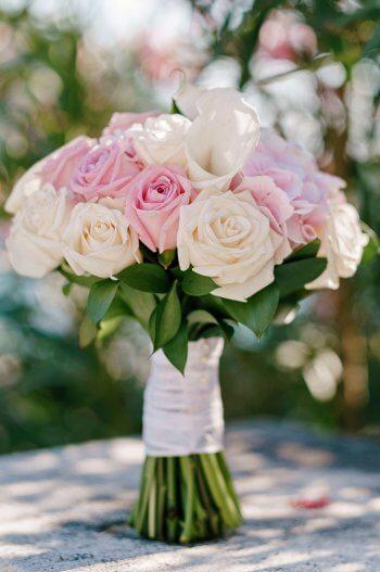 Brautstrauß Calla und Rosen