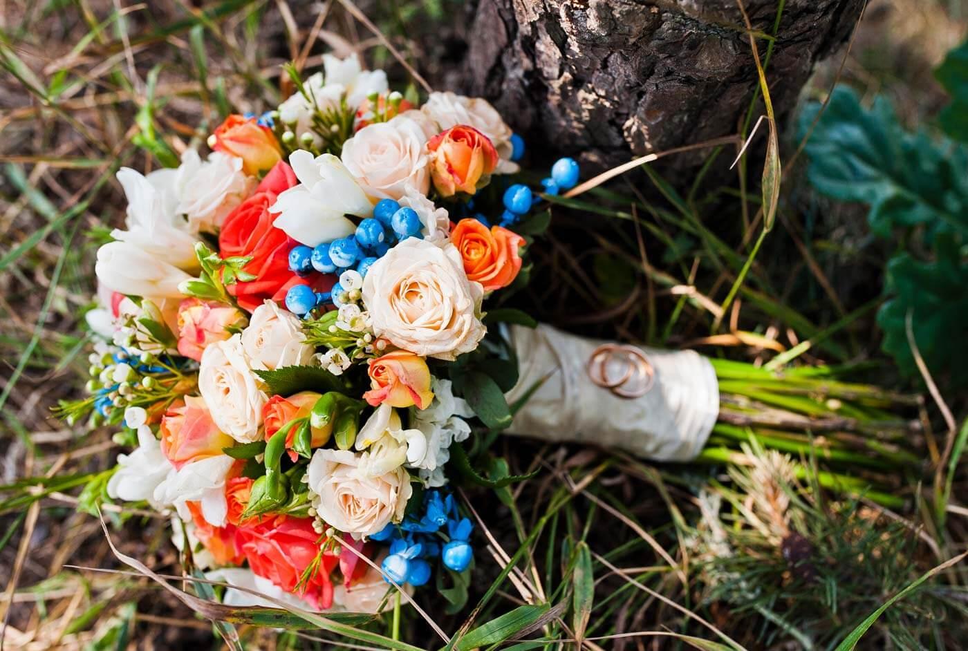 Brautstrauß Herbst Rosen