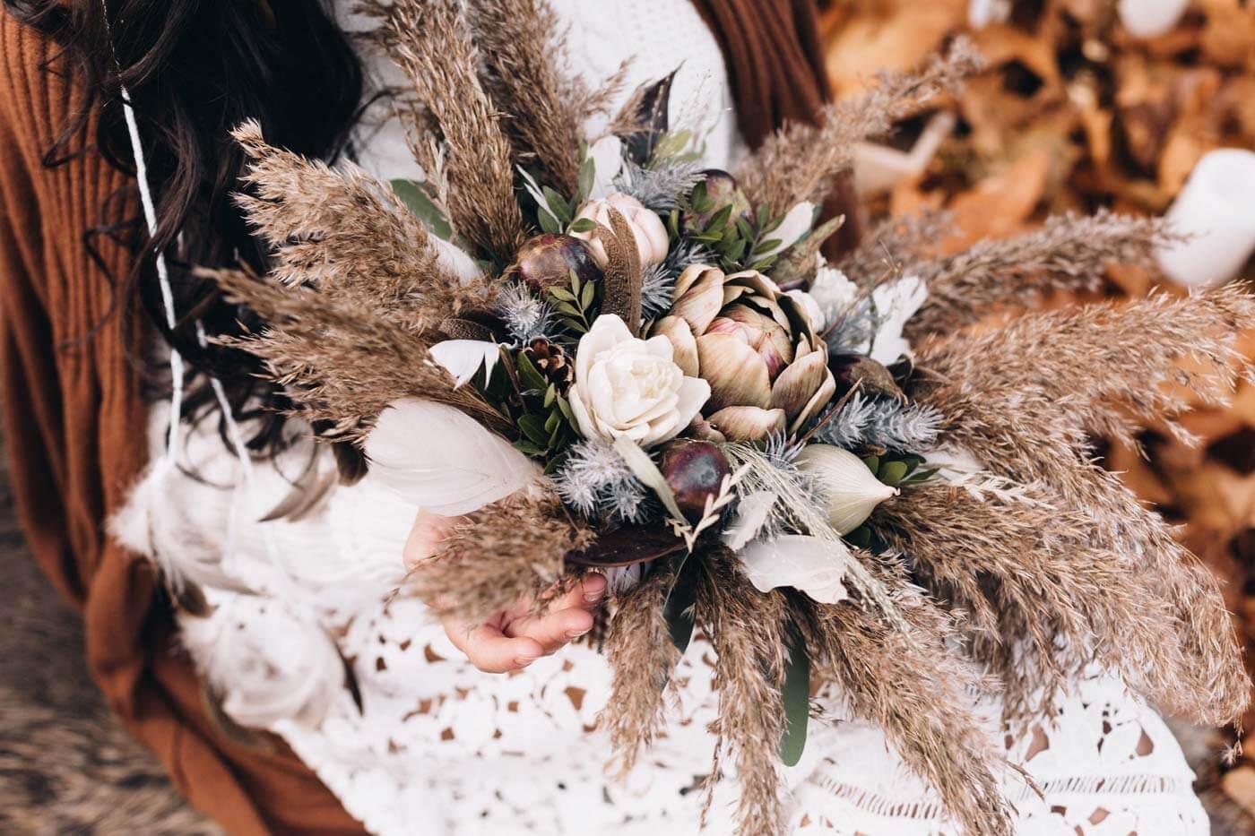 Brautstrauß Herbst Vintage