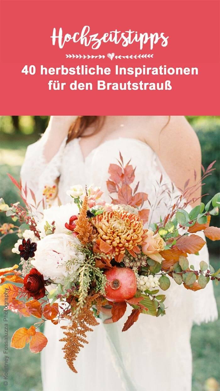 Herbst Hochzeitsstrauß