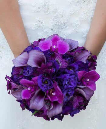 Brautstrauß Dunkellila