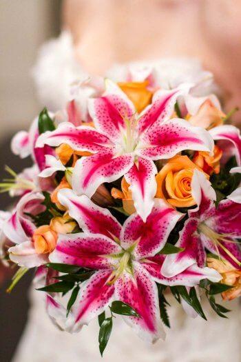 Hochzeitsstrauß Lilien