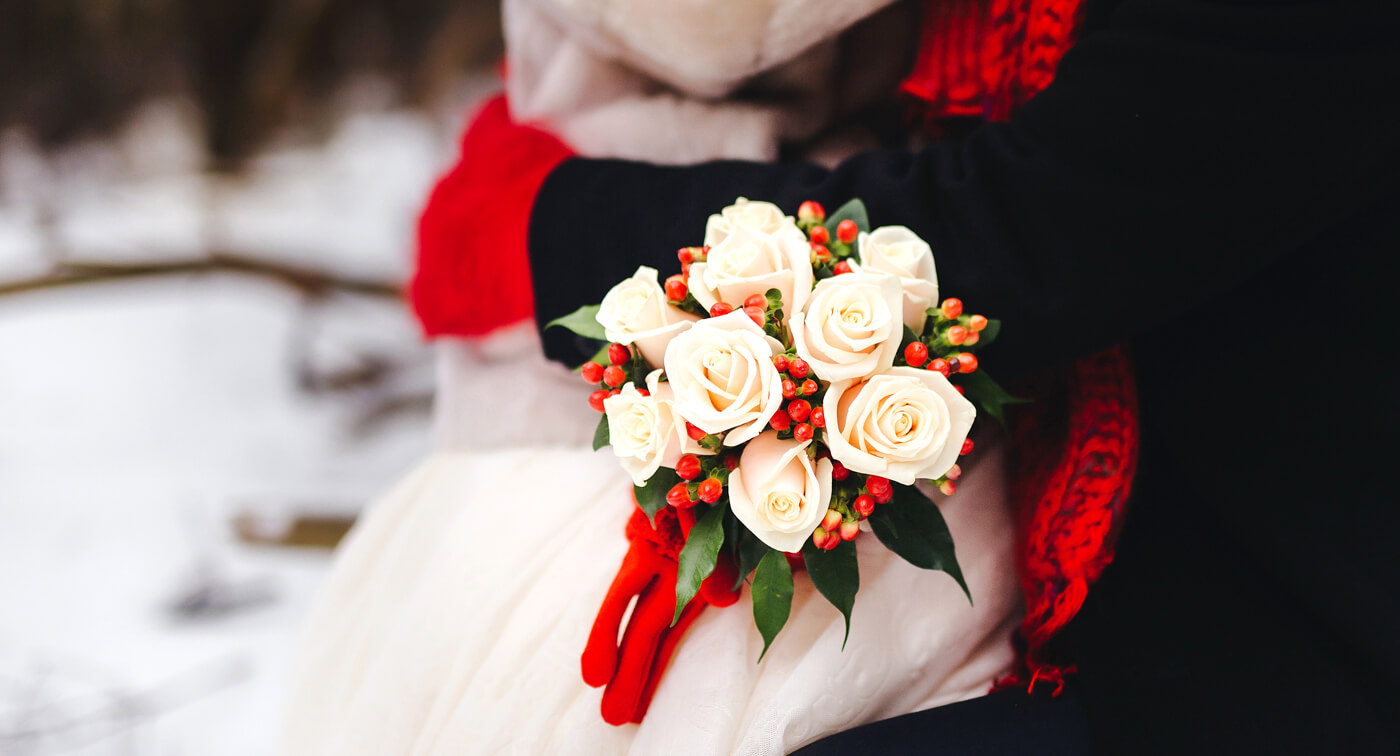 Brautstrauß Winter Standesamt