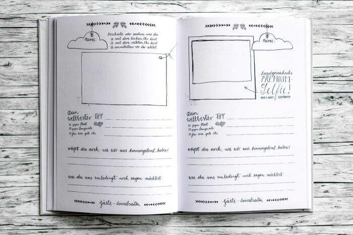 Gästebuch mit Fragen