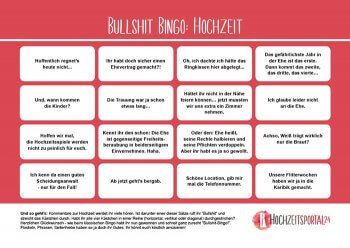 Bullshit-Bingo Hochzeit