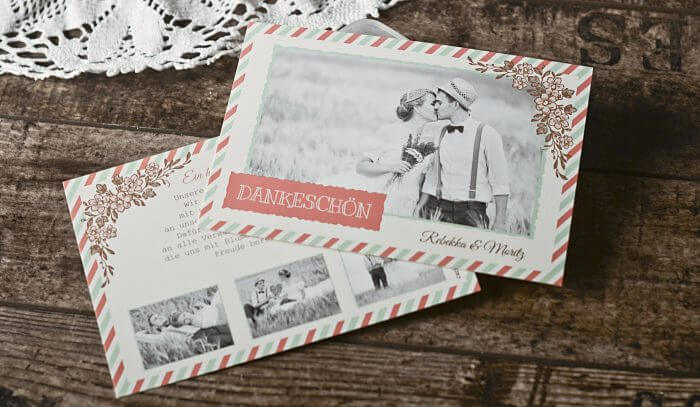 Dankeschön Karten zur Hochzeit