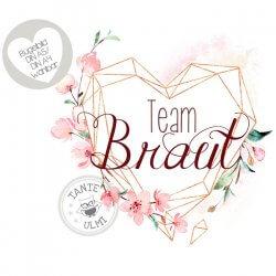 Bügelbild Team Braut