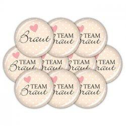 Button Team Braut