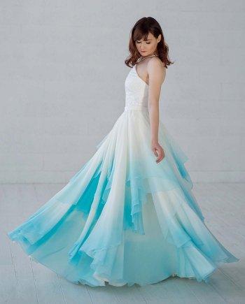 Brautkleid Farbverlauf