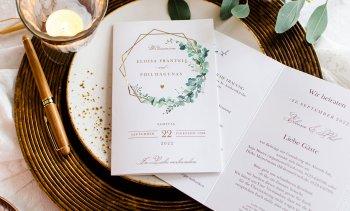 Eukalyptus Einladungskarte