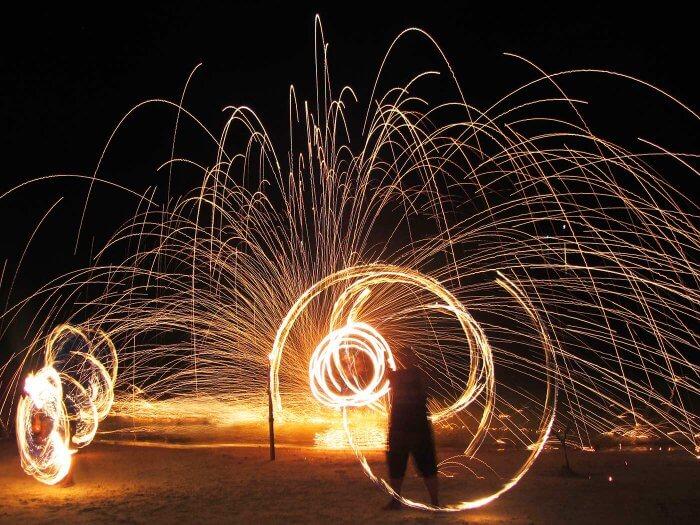 Thailand Strand Feuershow