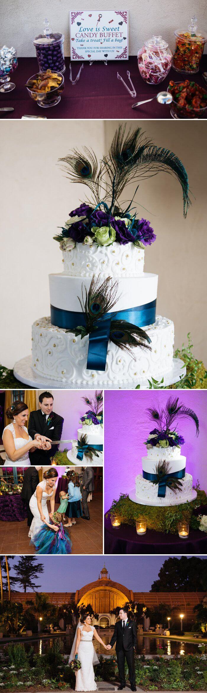 Pfauenfedern zur Hochzeit