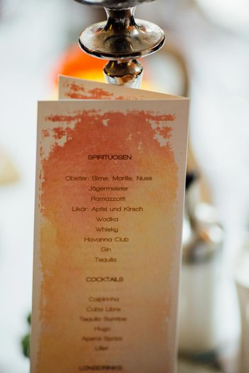 Getränkeliste Hochzeit