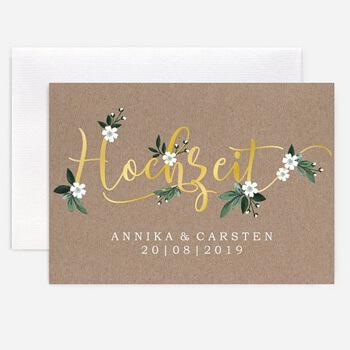 Einladungskarten Hochzeit Greenery