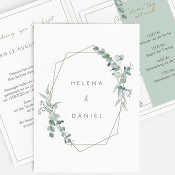 Greenery Hochzeit Einladung