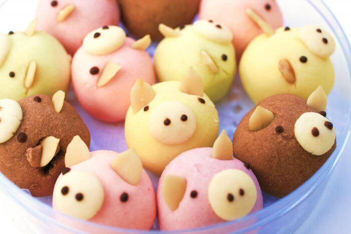 Heiraten auf dem Bauernhof Candybar Schweine