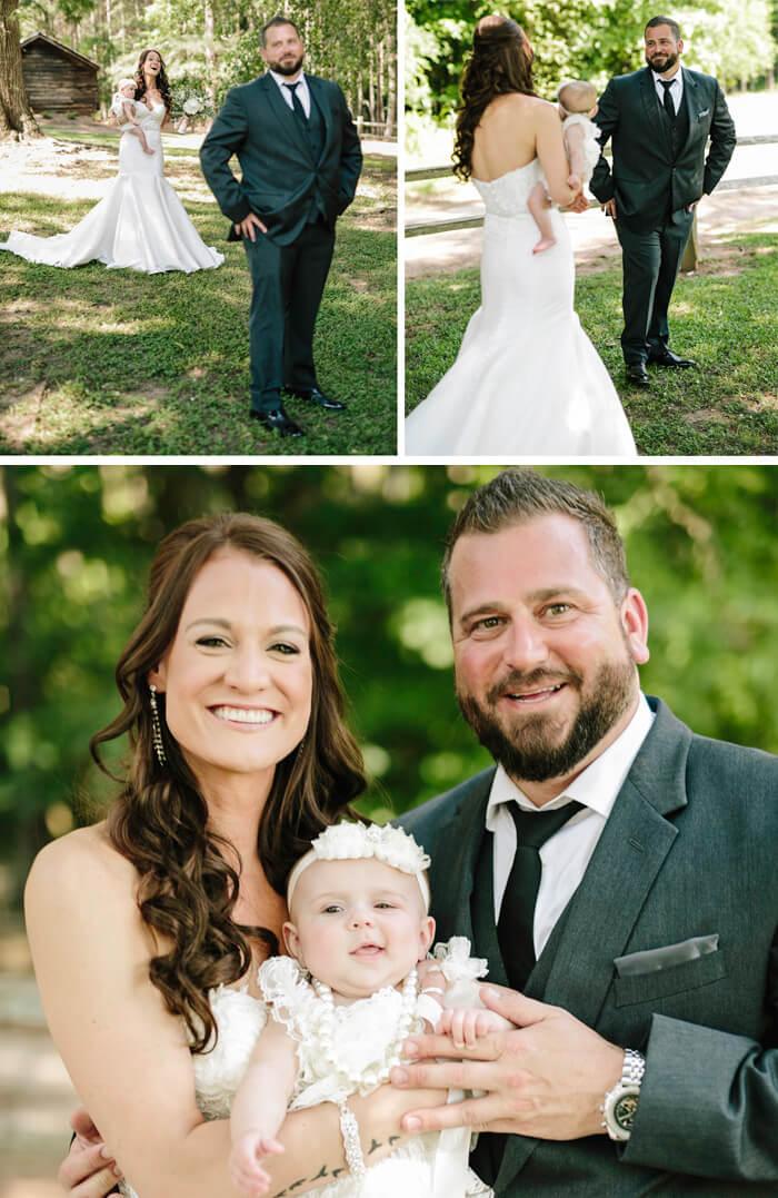 Hochzeit mit Baby