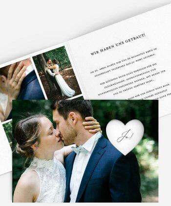 Heimlich geheiratet Bekanntgabe: Wir haben geheiratet Karte