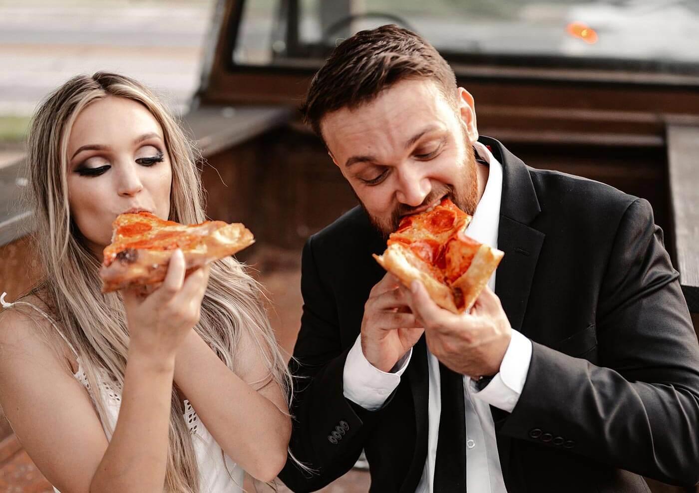 Pizza Hochzeit