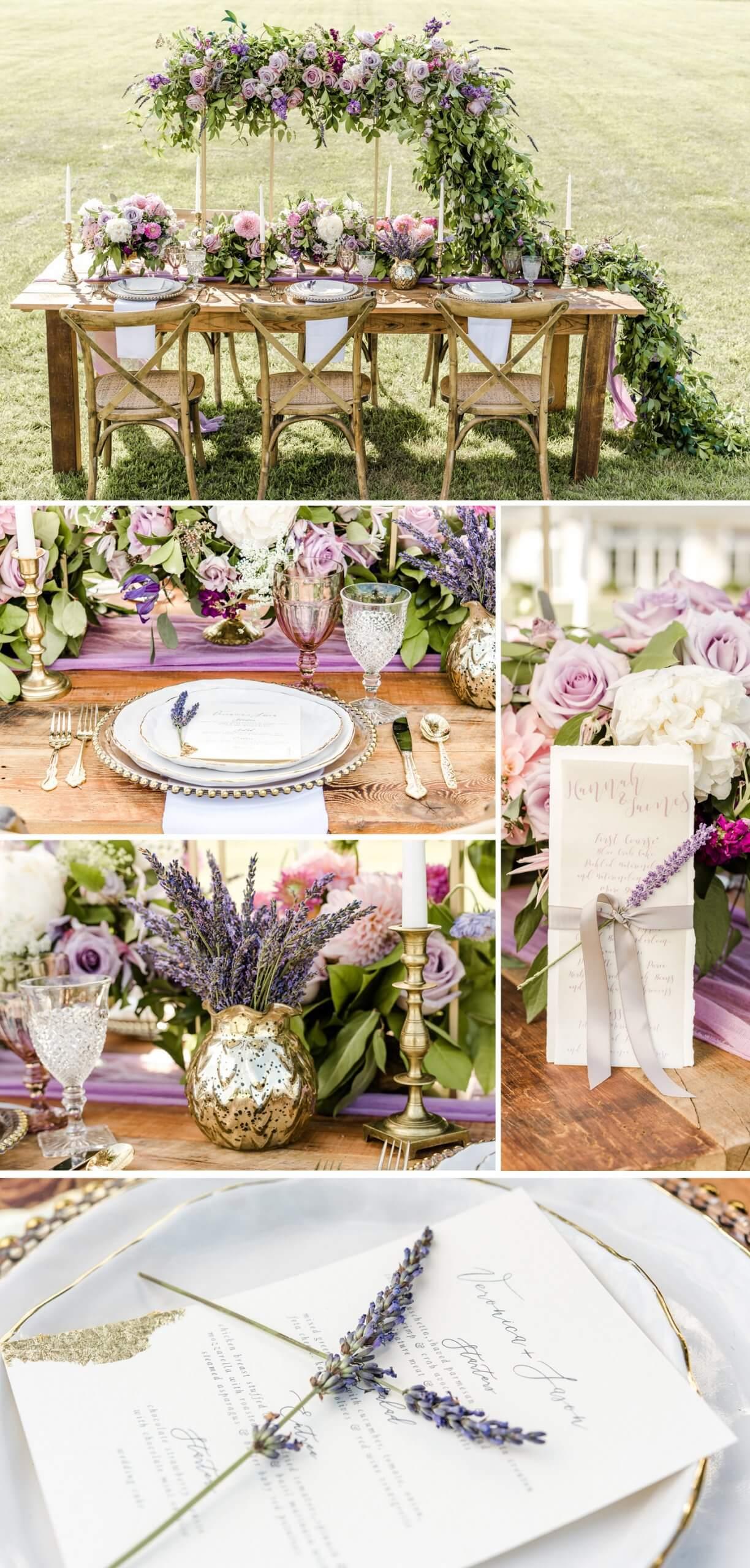 Hochzeit Tischdeko Lavendel
