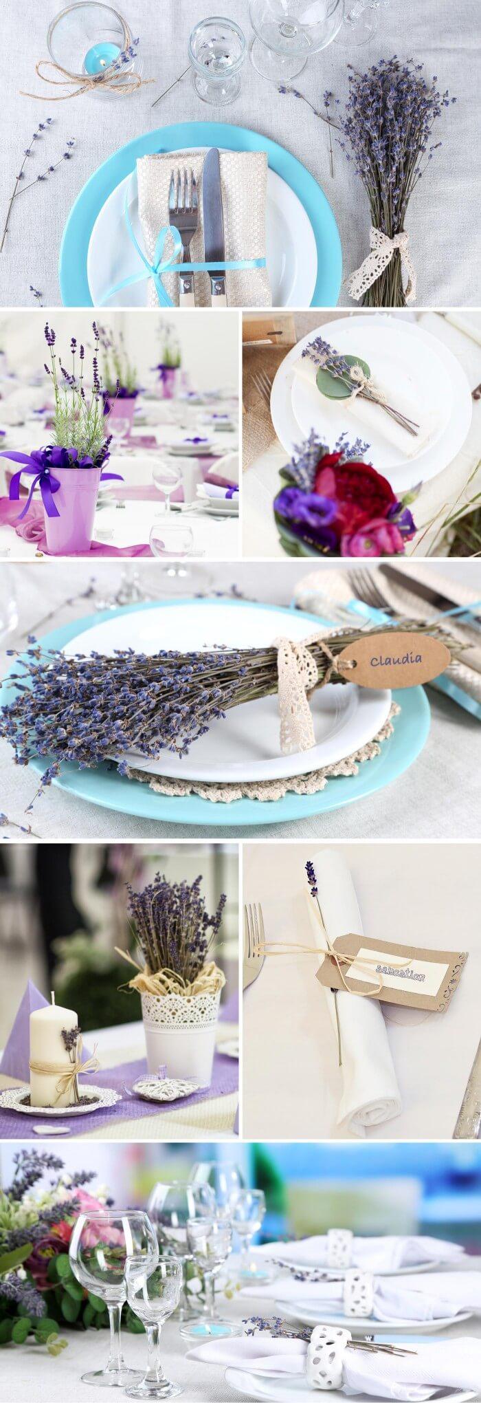 Hochzeitsdeko Lavendel Schöne Ideen Für Tisch Co