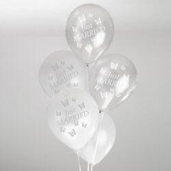 Luftballons Schmetterlinge