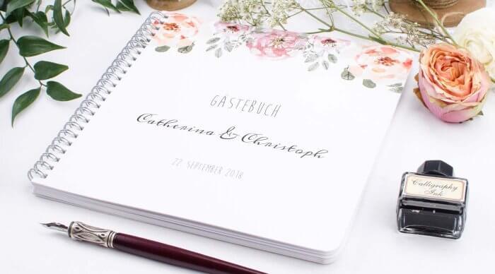 Personalisierte Gästebücher