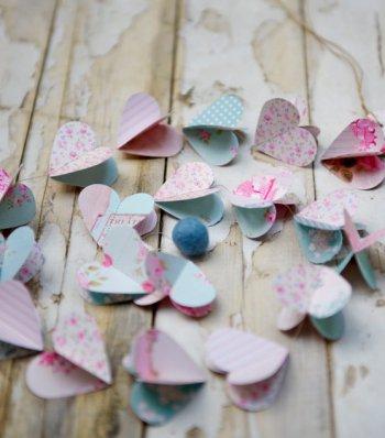 Herz Hochzeitsgirlande