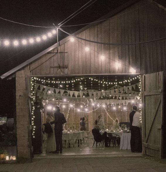 Lichterketten Hochzeitsgiranden