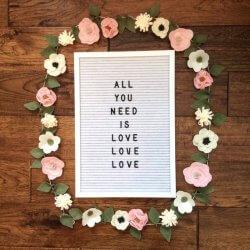 Hochzeitsdekoration Blumengirlande