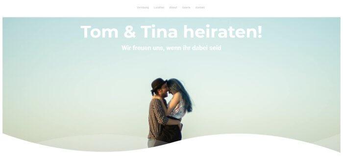 Hochzeit Website Beispiele