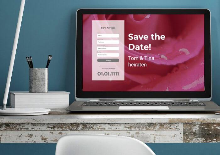Hochzeits Website Beispiel