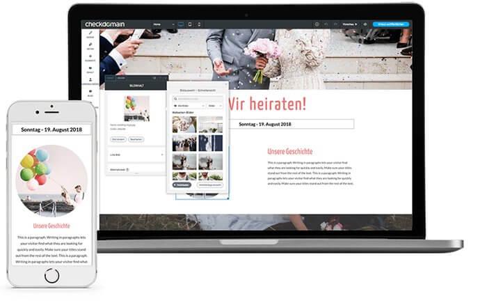 Hochzeits Website Beispiele