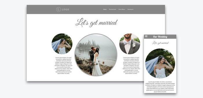 Homepage Hochzeit Beispiele